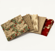 Winterberry 5 Fat Quarters - Stone